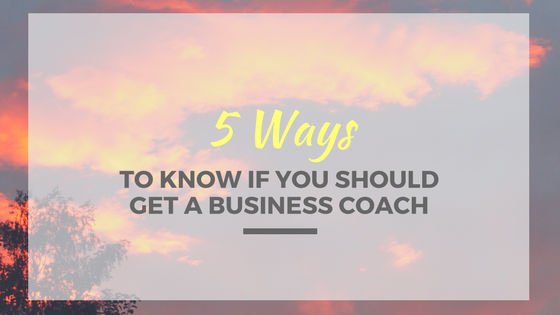 get a business coach
